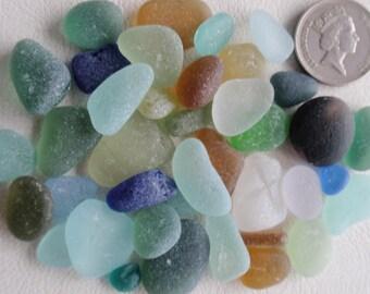 English sea glass colour collection teal, blue,seafoam,orange etc, plus 1 multi all JQ