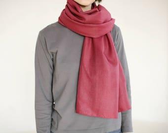 red silk scarf red silk shawl maroon scarf square red scarf lightweight scarf