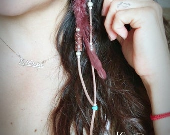 Single Feather BOHO CHIC earring