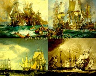 J.M.W. TURNER (1775-1851) Paintings - Printable Digital Images Collage Sheets Instant Download 3 PNG Files 4x4. 2x2. 1x1