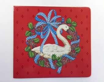 """1989 Avon """"Goose"""" Christmas Photo Greeting Card - NEW - not written on, with envelope"""