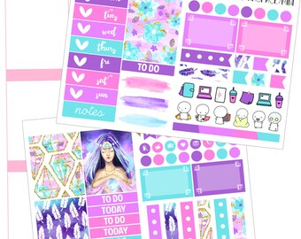 Blank Space MINI KIT (hand painted erin condren stickers)