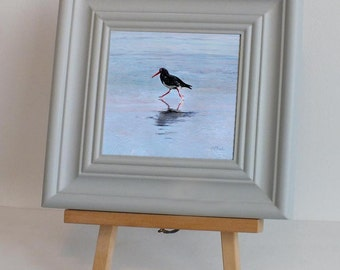 Oystercatcher. Framed fine art print from a painting by dorset artist cliff Towler