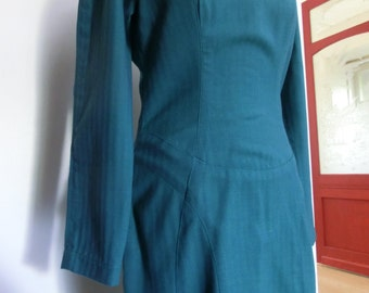Blue Tailored dress (Vogue Pattern) s:M/ Robe tailleur bleue (Patron Vogue) T38