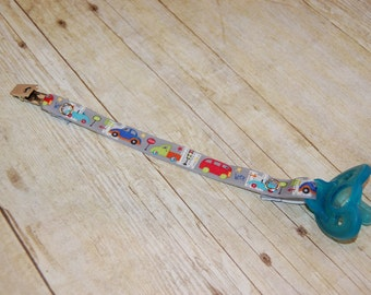 Pacifier Clip, Cars, Personalization Available, Ready to Ship