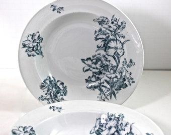 4x George Jones & Sons transfer ware bowls Carnations pattern