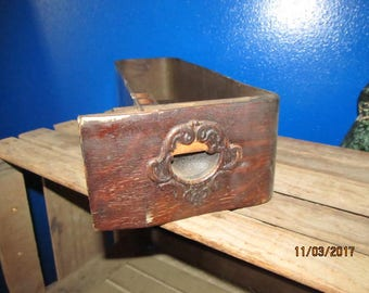 Vintage Sewing Machine Drawer Shelf with Thread Bobbin Holder Ornate Old Drawer Ready to hang Shabby Primitive