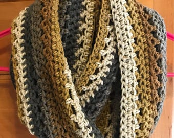 Fall Colors Crochet Infinity Scarf!