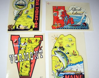 Vintage Travel Decal -Rhode Island