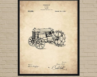 Farm Art, Tractor Art, patent print, farmhouse art, farmhouse decor, farmer gift, farm art, farm wall art, farm decor, farmer, farming art