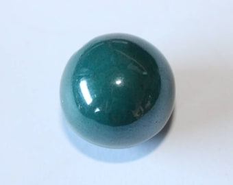 round blue ceramic bead, 20 mm