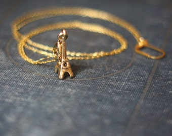 Golden Eiffel Tower Necklace