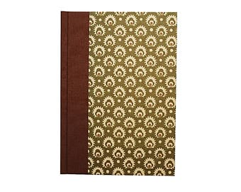 Address Book A6 Cones in apple green brown, DIN A6 telephone book, small address book, gift idea for friends who are moving