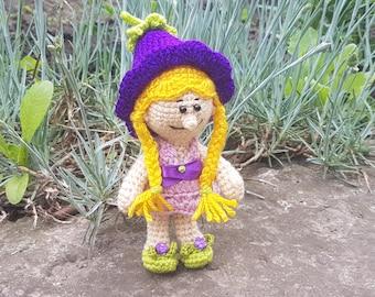 Crochet doll Amigurumi doll Art Doll gift for girl doll clothes clothing handmade doll toy for girls  birthday gift  soft toy stuffed flower