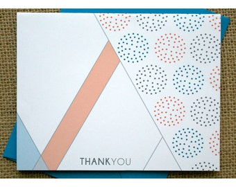 Rustic and Industrial Style Thank You Notes - Note Cards with bold and organic design- Thank You Cards - Thank You Notes - Personalized