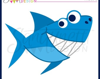 Shark clipart, shark clip art, ocean clipart, sea clipart, beach clipart, summer clipart, Instant Download