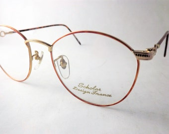 Steampunk Eyeglasses, Womens Oval Round Eyeglass Frames, Chain Eyeglasses, Copper Tortoise Shell Eyeglasses, Lightweight Glasses