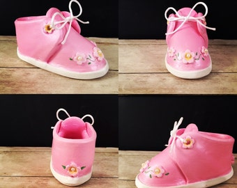 Baby shoe/ bootie made of clay. Zapato de bebe. Recuerdo de baby shower 2/10/20