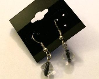 Black cone earrings