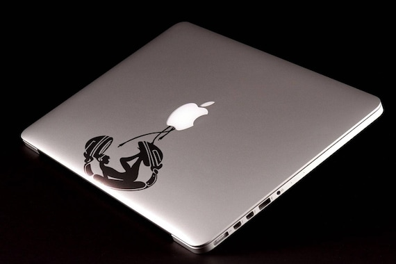 Music Lover Decal Sticker, Musician, Music, Melody Lover, Headphones, Girl, Woman, Headset, mac, Macbook Decal Sticker