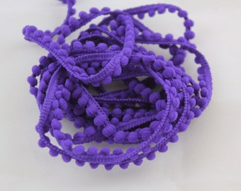 Bébé Pom Pom garniture - frange Pom Pom violette