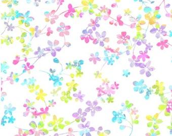"Studio E Fabrics - 108"" Wide - Watercolor Meadow - Sold by Half Yard"