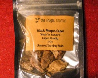 Black  Mayan Copal Resin 1 Full Oz High Quality Heat Sealed Bag