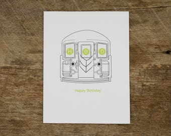 Subway Birthday Card