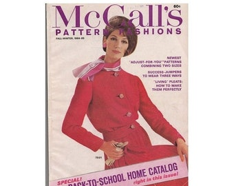 ON SALE McCalls Pattern Fashions Vintage 60s Back to School Home Catalog Fall Winter 1964-65 Issue Plus How to Make Pleats