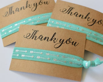 Thank You Hair Tie Favor / Wedding Party Favors / Wedding Thank You Favors / Hair Tie Favors /Thank You Gifts / Wedding Party