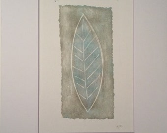 Blue Leaf | Original Hand Pulled Print