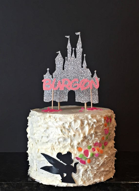 Disney Castle Personalized Name Cake Topper Cupcake Topper