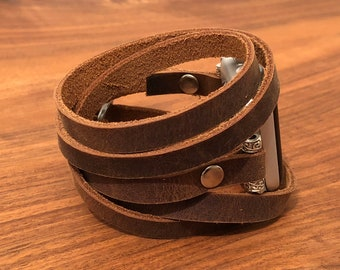 Apple Watch Band 38mm Women Leather Apple Watch Bracelet iWatch Band Apple Watch Strap Gift for Her Gift for Wife Gift for Mom