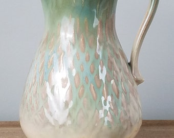 pottery pitcher, ceramic pitcher, wheel thrown, handmade, gifts for her, wedding, birthday, Mother's Day, unique, elegant