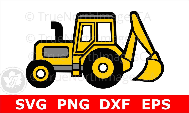 excavator svg excavator clipart excavator clip art rh etsy com backhoe clip art images backhoe clip art images
