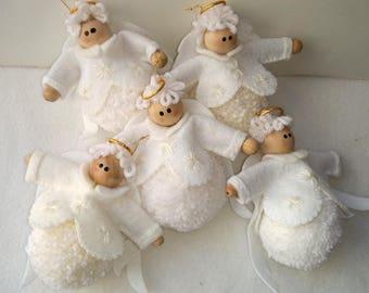 Angel Pompom Ornament yarn angel