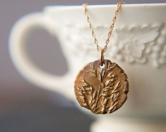 """Kentucky Bluegrass Necklace, Botanical Necklace, Bronze, Plant Necklace, Grass Necklace, Prairie Necklace, Rustic Necklace, """"Wild and Free"""""""