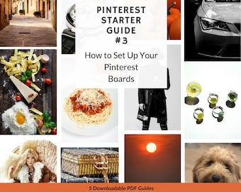 How to Set Up Your Pinterest Boards Guide. Step by Step Printable PDF Pinterest Tutorial. 3 of 5 Social Media Guides for Beginners   P13