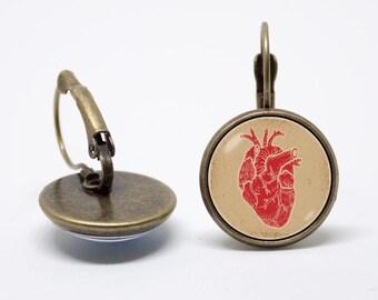 Cardiology earrings Human heart Anatomy earrings Medical jewelry Heart jewelry Girls earrings Doctor jewellery Nurse gift Human biology