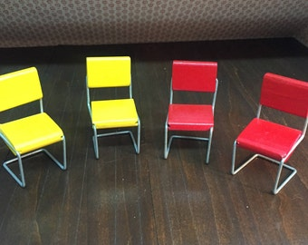 60's Wood and Wire Miniature Chairs