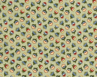 Cotton Quilt Fabric M is for Mystery Sage Floral Quilting Sewing  Crafting Fabrics