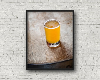 Beer Print / Digital Download / Fine Art Print/ Wall Art / Home Decor / Color Photograph / Food Photography / Kitchen Print