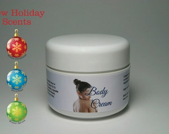 Natural Body Cream  with new holiday scents / 3 oz (87g)