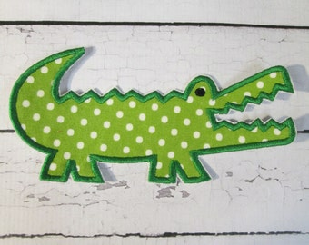 Ready To Ship in 1-3 Business Days - Mister Alligator Iron On or Sew On Embroidered Applique