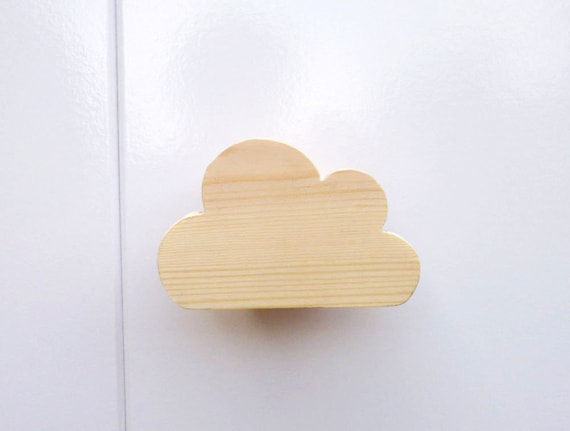 Poignée De Tiroir En Bois   Pin Poignée Nuage   à La Main Poignées  Décoratives Peintes   Nuage Poignées De Tiroir   Poignée De Porte De Placard
