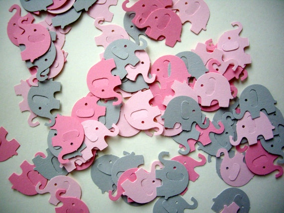 100 Elephant Punches, Paper Elephants, Pink Elephants, Baby Shower,  Embellishment, Elephant Confetti, Decoration From PointingDogPaper On Etsy  Studio