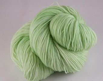 Hand Dyed Sock Yarn, hand dyed wool, variegated sock yarn, nylon sock yarn, green