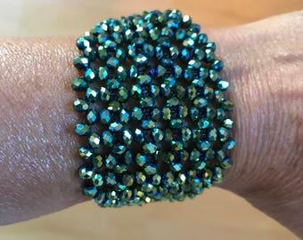Crystal diamond bracelet