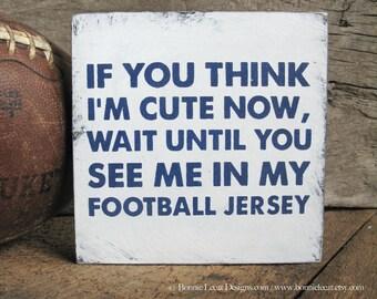 Football Sign, Rustic Football Wall Decor, Baby Boy Football Nursery Decor, Sports Theme Decor, Football Baby Shower, Football Party