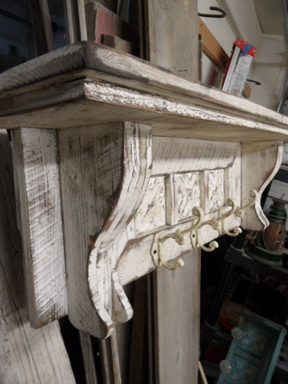 Cottage Chic Coat Rack Primitive Hat Rack French Country